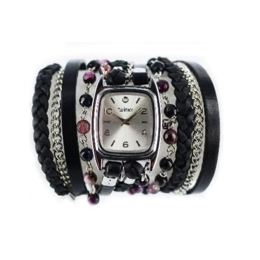 Black Forest Cake Bracelet Wrap Watch