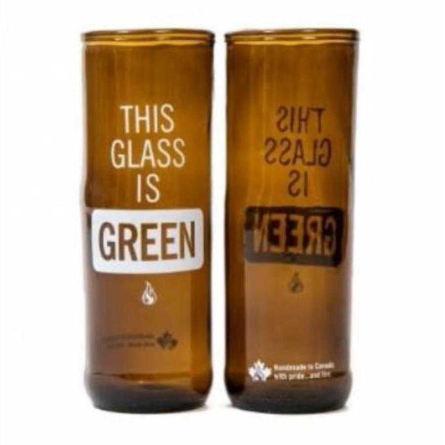 This Beer is Green Upcycled Beer Glass