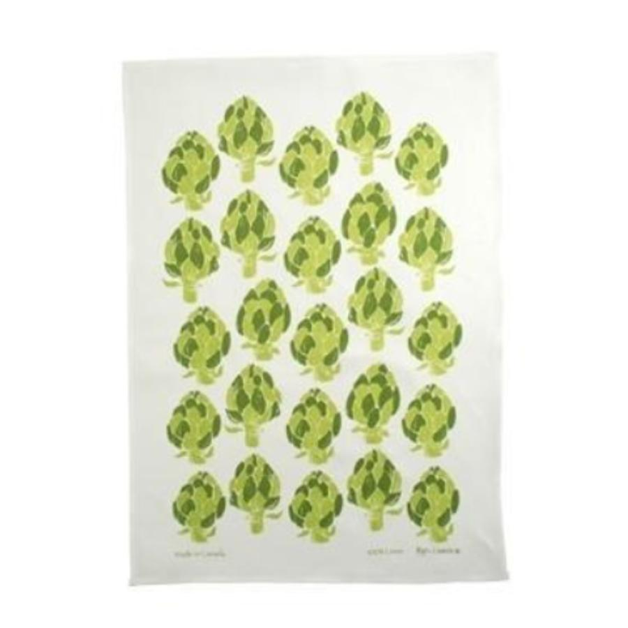 Artichoke Linen Tea Towel
