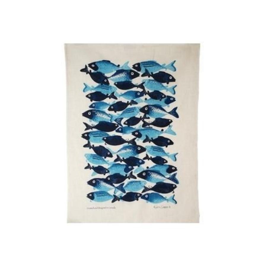 School of Fish Linen Tea Towel