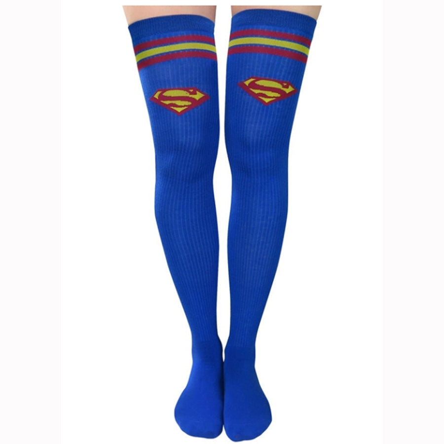 Superman Thigh High Socks