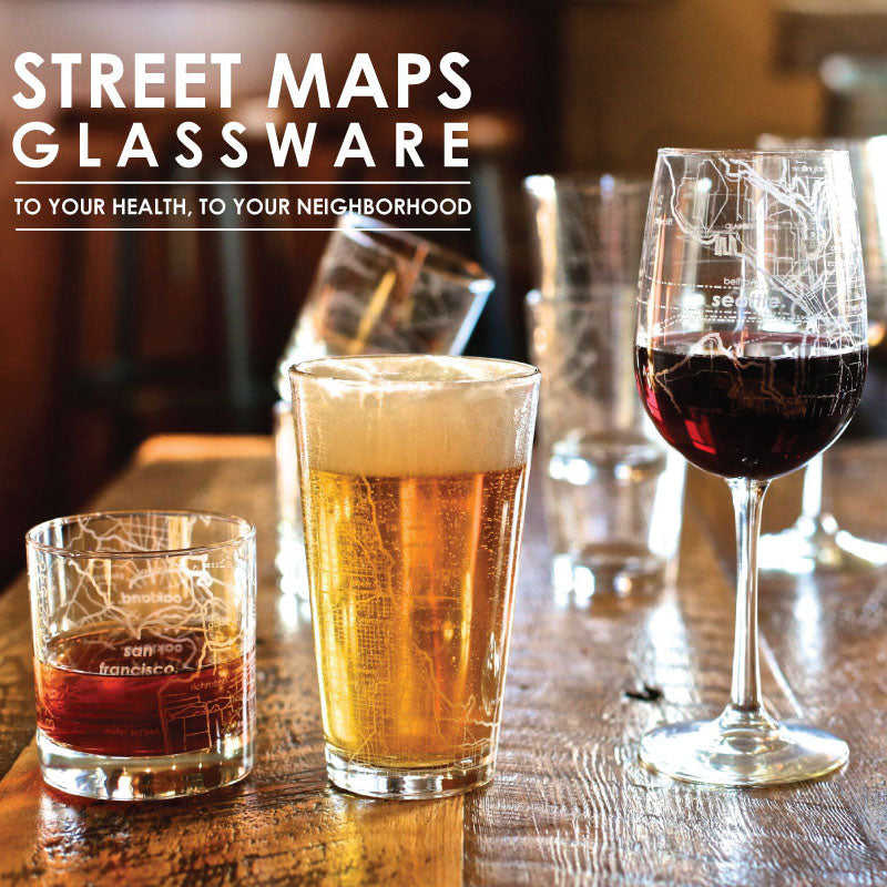 London Street Map Pint Glass