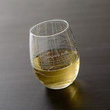 Niagara Falls Street Map Stemless Wine Glass