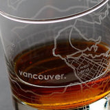 Vancouver Street Maps Rock Glass