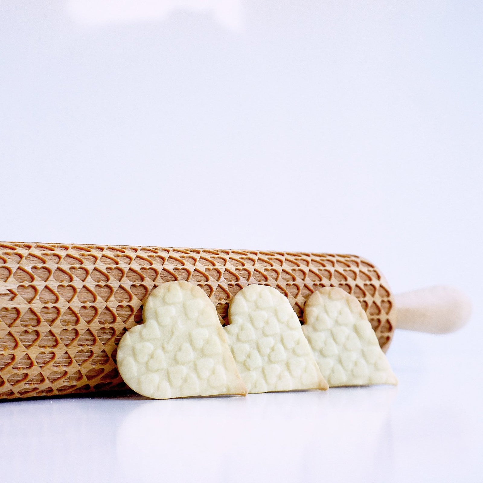 Heart Embossing Rolling Pin