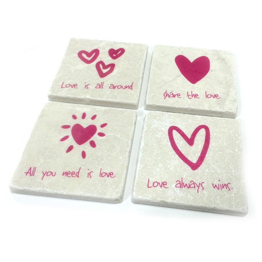 Love Quotes Coaster Set
