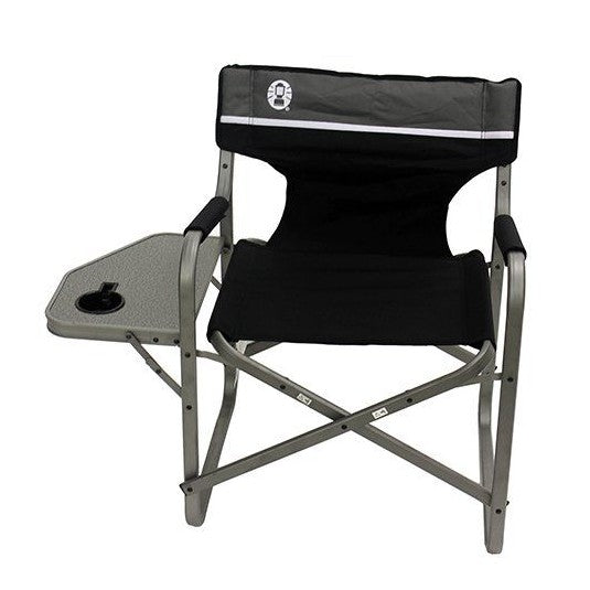 Coleman - Deck Chair With Table (Black)