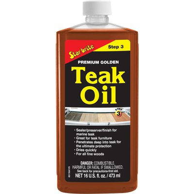 Star Brite - Premium Golden Teak Oil (16 Oz)