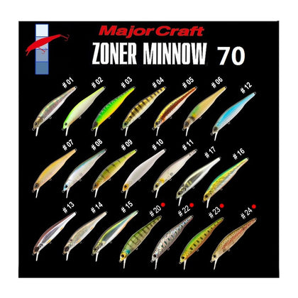 Major Craft - Zoner SP Minnow 70
