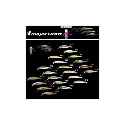 Major Craft - Premium Suspending Jerk Bait Lure Zoner Minnow 50