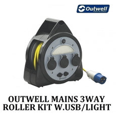 Outwell - Mains 3 WAY Roller Kit With USB Light