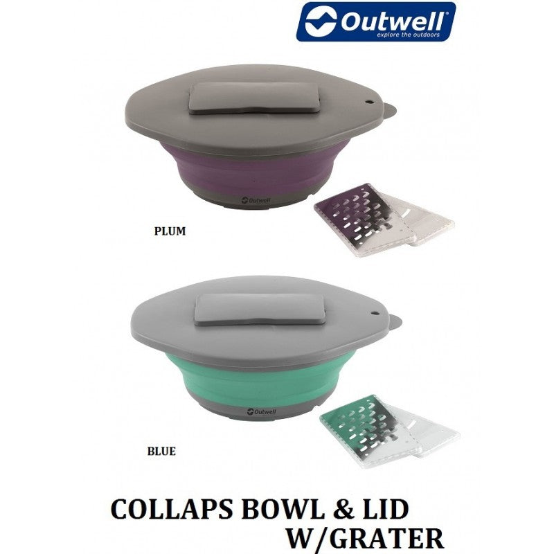 Outwell - Collaps Bowl & Lid With Grater