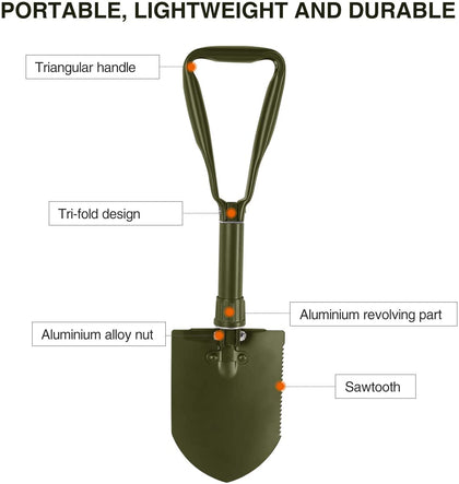 Military Folding Shovel with Sheath