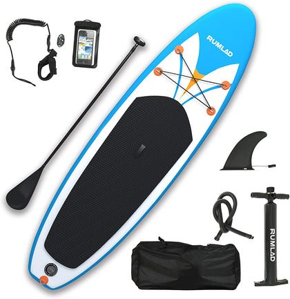 Rumlad - Inflatable Paddle Board 4 Inches Thick with Accessories