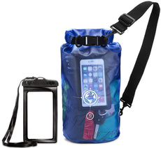 Earth.pak - Viewpoint Transparent Dry Bag with Waterproof Phone Case  (Blue / 20 Liters)