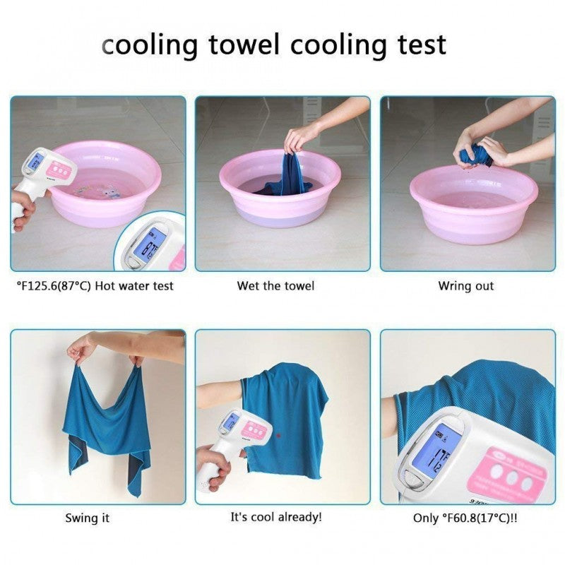 N-Rit - Ice Mate Cool Towel Single (Pink)