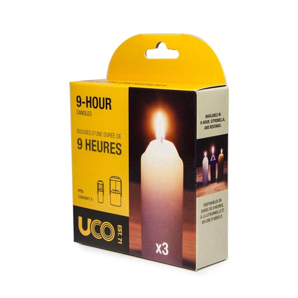 UCO Corporation - 9-Hour Paraffin Candles for Lantern, (3's Pack)