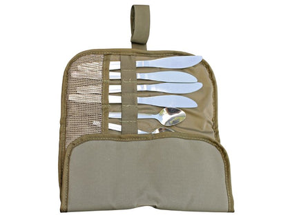 Camp Cover - Cutlery Roll-Up Compact 4-Set Ripstop Kitted
