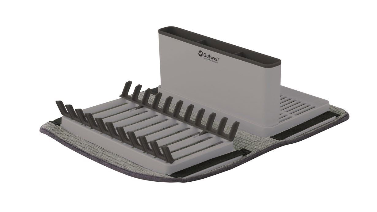 Outwell - Dunton Foldable Dish Rack with Sponge Drain