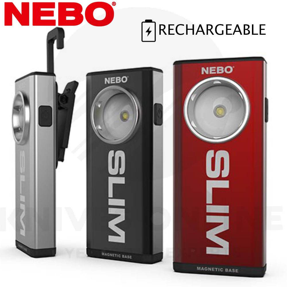 Nebo - Slim 500 Lumen Rechargeable Pocket Work LED Torch light