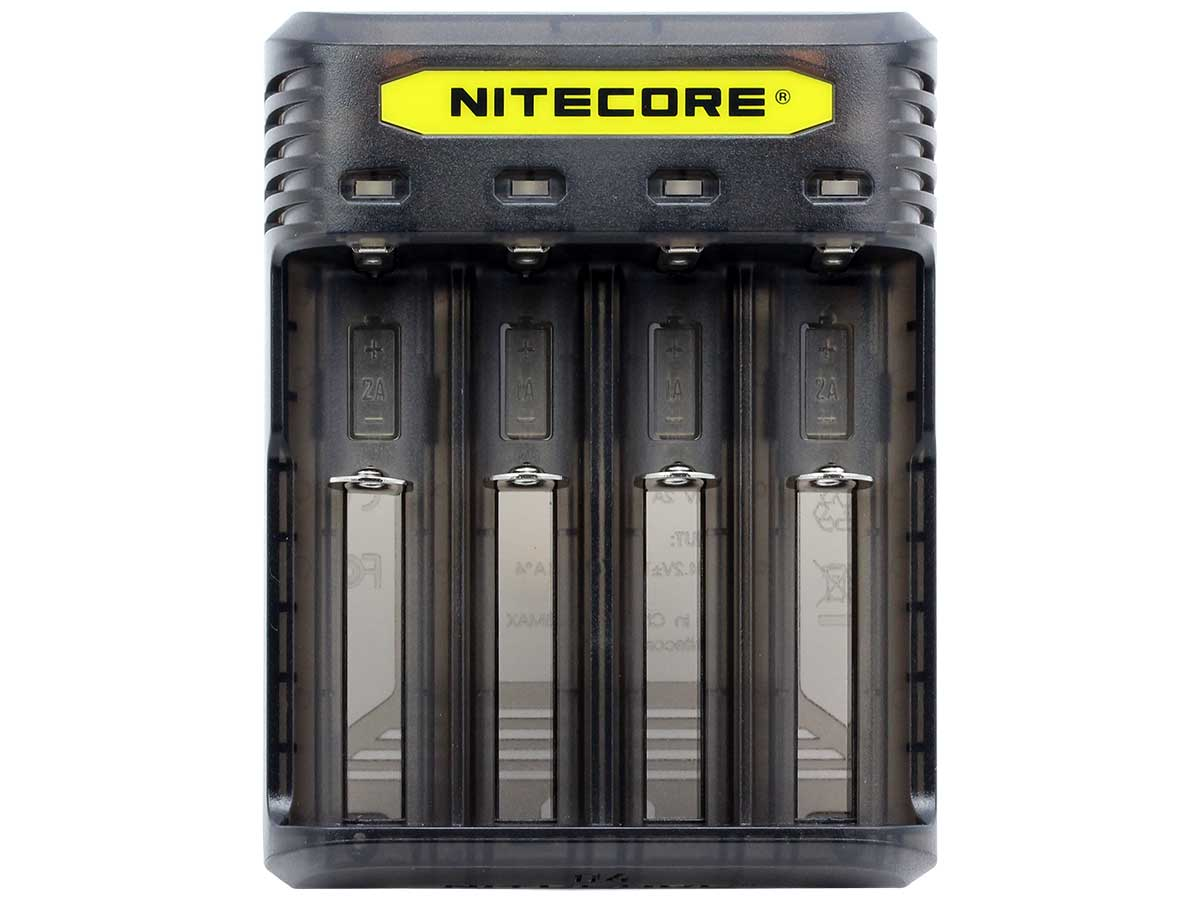 NITECORE - Q4 Intellicharger Universal Smart Vape Mods 18650 Battery Black Charger