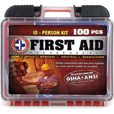 Total Resources - 10 Person First-Aid Kit (100 Pcs)