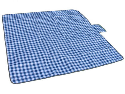 Camp Cover - Picnic Rug Check Cotton Polypropylene 1.8 m x 1.8 m