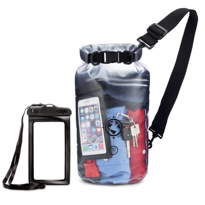 Earth.pak - Viewpoint Transparent Dry Bag with Waterproof Phone Case (Transparent / 10 Liters)