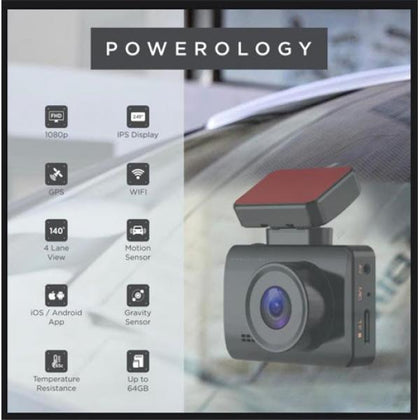 Powerology - Dash Camera Pro recording 1080P Full-HD