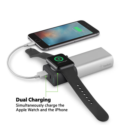 Belkin - Valet Charger Power Pack 6700 mAh For Apple Watch And iPhone