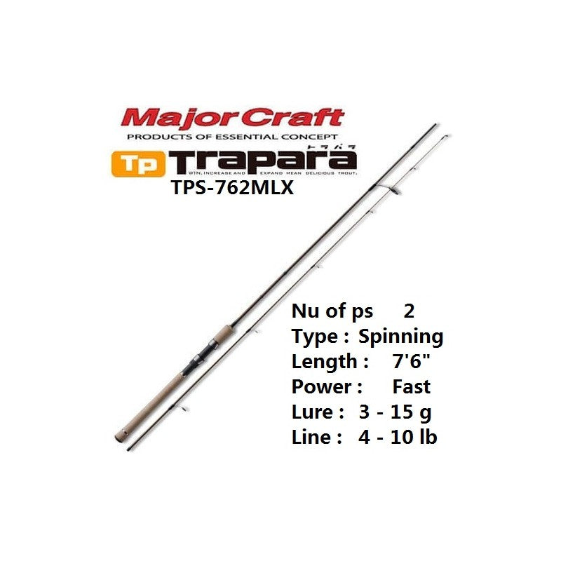 Major Craft - Trapara Spinning Rod TPS 762 MLX
