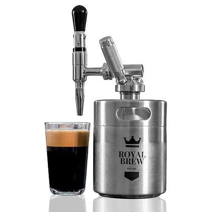 Royal Brew - Nitro Cold Brew Coffee Maker Keg (with Free Capsules) - RVOD