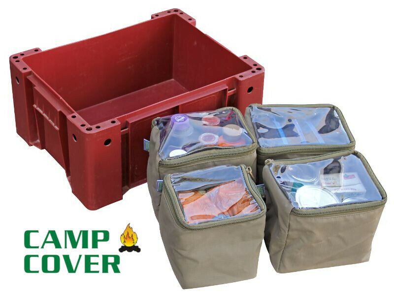Camp Cover - Wolf Box Pouches (4x 1/4) - With Clear Tops