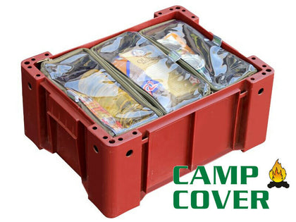 Camp Cover - Wolf Box Pouches (3x 1/3) - With Clear Tops