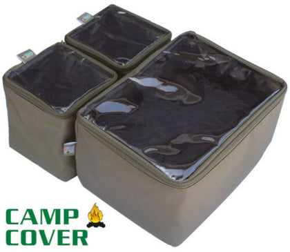 Camp Cover - Wolf Box Pouches (1/2 + 1/4 + 1/4) - With Clear Tops