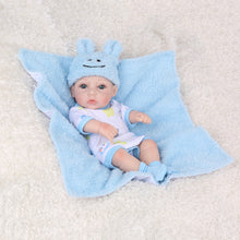 Load image into Gallery viewer, 10 inches reborn baby dolls clothes pink / blue fashion jumper+blankets