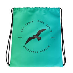 Happiness Within Drawstring bag - Ocean & Co