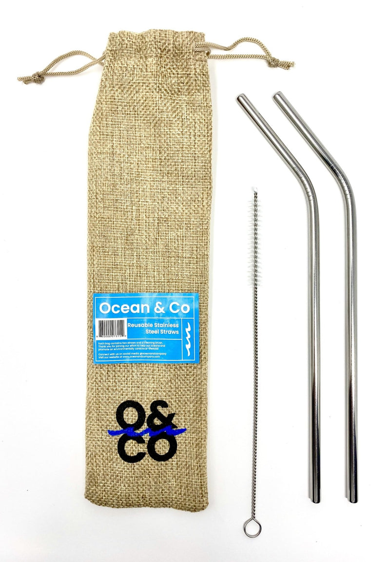 Stainless Steel Straws - Ocean & Co
