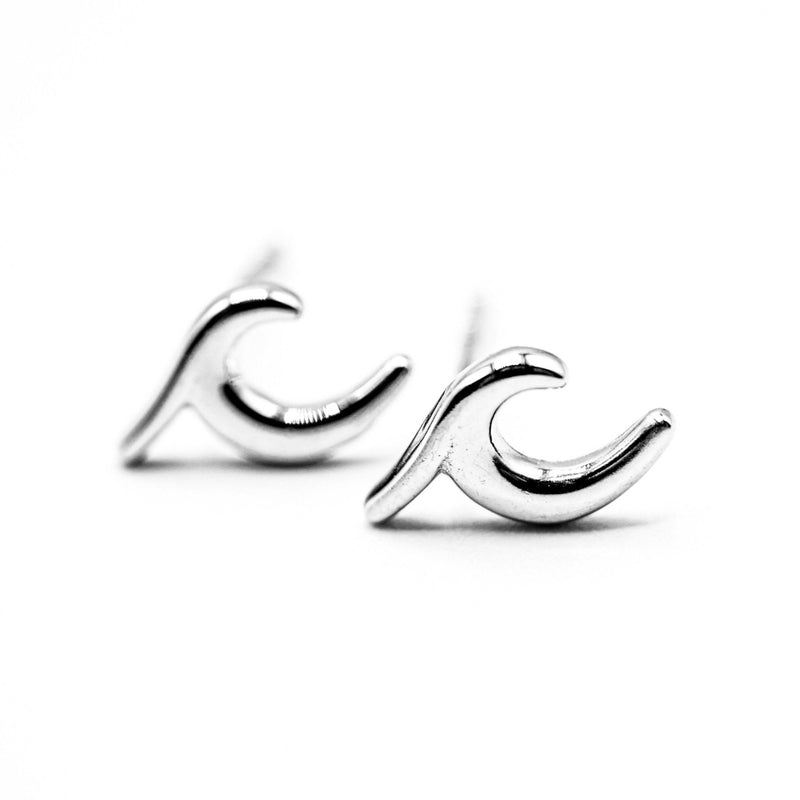 Sterling Silver Wave Earrings - Ocean & Co