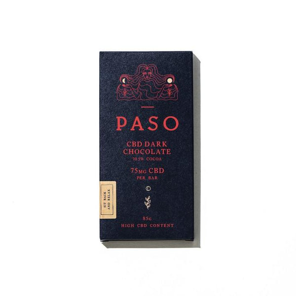 Paso Dark Chocolate 75mg CBD | 85g Farm CBD
