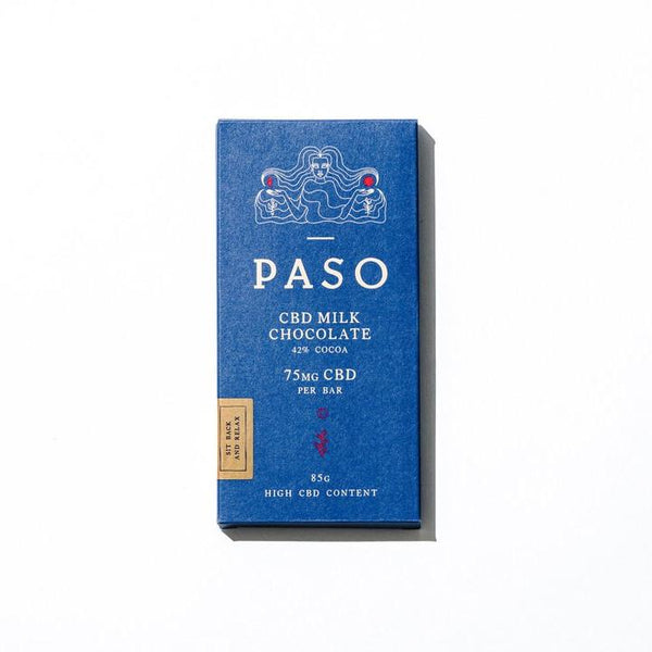 Paso Milk Chocolate 75mg CBD | 85g Farm CBD