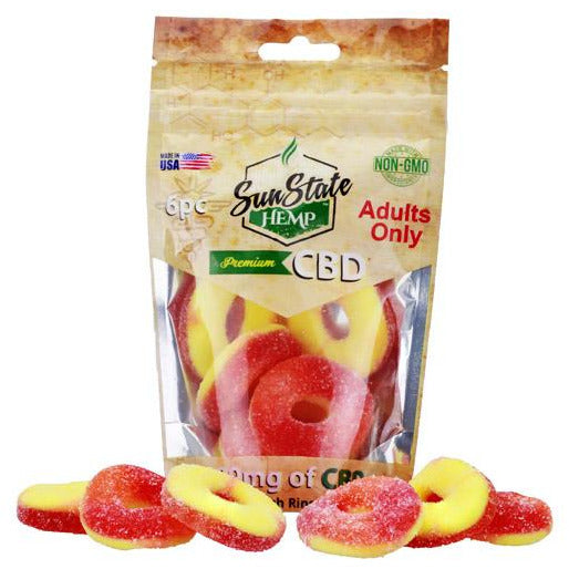 Sun State Peach Rings 180mg (6pc)