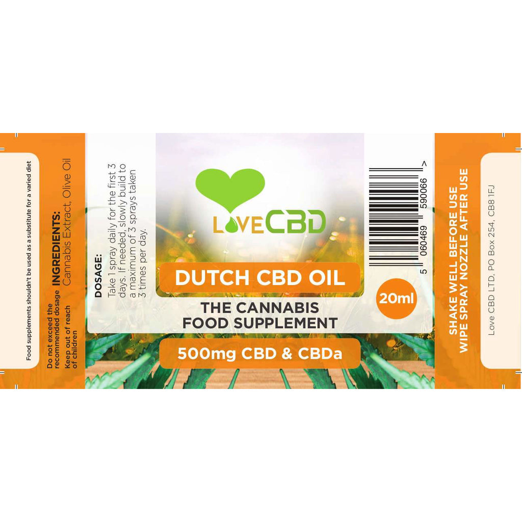 Love CBD Dutch Oil Spray 20ml (CBD: 500mg)