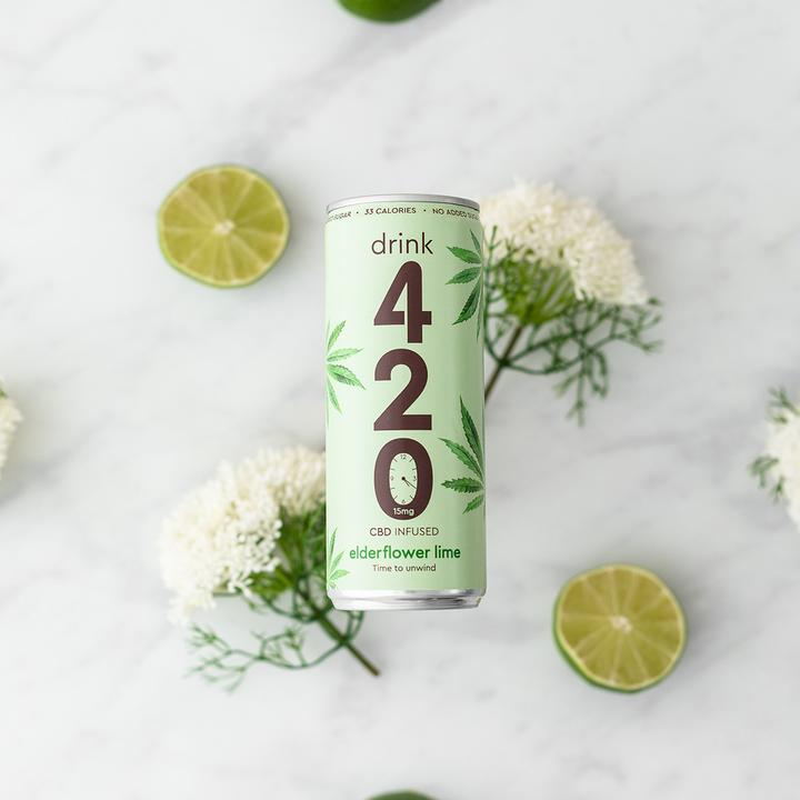 Elderflower & Lime CBD Drink