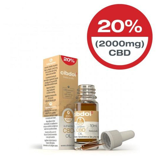 Cibdol CBD Hemp Seed Oil 10ml 20% (2000mg)