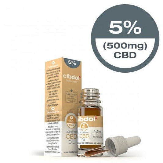 Cibdol CBD Hemp Seed Oil 10ml 5% (500mg)