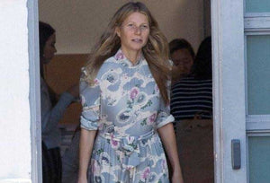 Flower Power! Gwyneth Paltrow's Darling Floral Dress Catches the Wind as She Hurries Through LA on a Juice Run