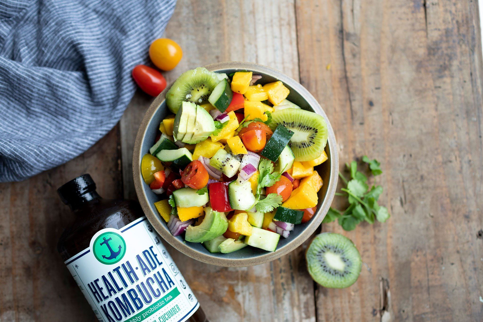 Kiwi, Cucumber, and Mango Salsa for Summer Snacking