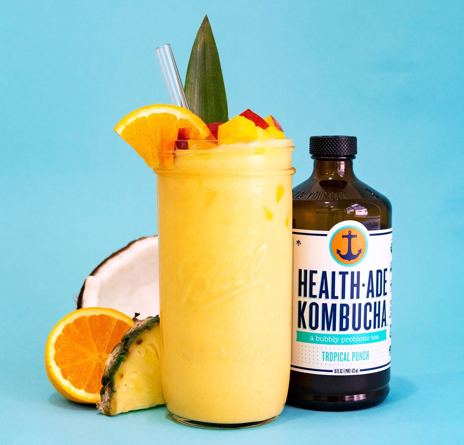 Summer Chillin': Health-Ade Kombucha Tropical CBD Smoothie