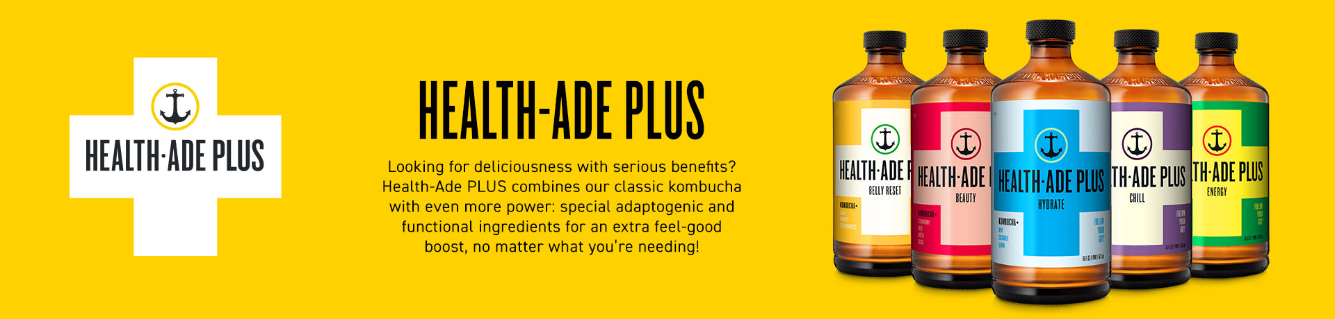 Health-Ade Plus Desktop Banner